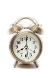 Classic alarm clock ringing at eight o'clock, isolated against a Royalty Free Stock Images