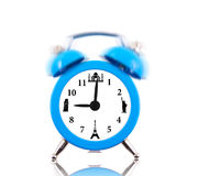 Classic alarm clock ringing, with landmarks Stock Photography
