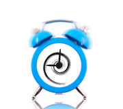 Classic alarm clock with swirl inside Royalty Free Stock Photos