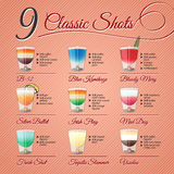 Classic alcohol shots set Royalty Free Stock Photos