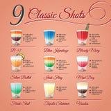 Classic alcohol shots set royalty free stock photos