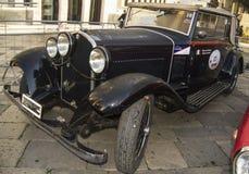 Classic alfa romeo 6c vintage car Stock Image