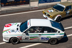 Classic Alfa Romeo GTV race car. Photographed during Histocup event at Slovakia Ring on August 3, 2013 Stock Photo