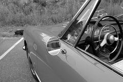 Classic Alfa romeo spider door detail Royalty Free Stock Image