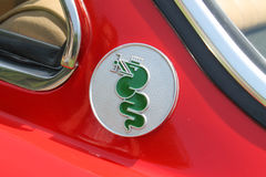 Classic Alfa Romeo sports car side detail Stock Images