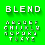 Classic alphabet with modern long shadow effect. Royalty Free Stock Images