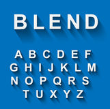 Classic alphabet with modern long shadow effect Royalty Free Stock Photo
