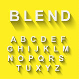 Classic alphabet with modern long shadow effect. Stock Photography