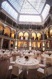 Classic ambient for banqueting. Galleries with classic equipment for banqueting and catering Royalty Free Stock Photos