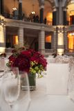 Classic ambient for banqueting. Galleries with classic equipment for banqueting and catering Stock Photography