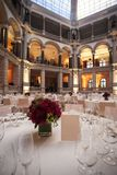 Classic ambient for banqueting. Galleries with classic equipment for banqueting and catering Royalty Free Stock Images