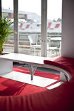 Classic ambient for banqueting. Sofa in a cozy pub restaurant Royalty Free Stock Images