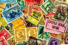 Classic America postage stamps Stock Image