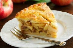 Classic American apple pie. Stock Photo