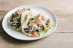 Classic American Beef Soft Tacos Royalty Free Stock Photo