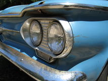 Classic American Blue Car. Maine royalty free stock photos