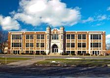 American school. Classic american brick public school Stock Photo