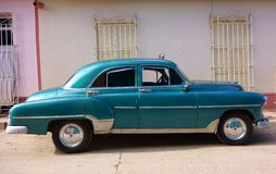 Classic American car as taxi in Trinidad, Cuba Stock Images