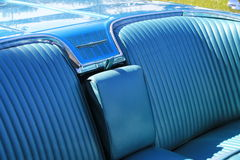 Classic american car backseat Royalty Free Stock Photo