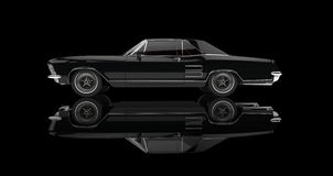 Classic American Car On Black Background Royalty Free Stock Photography