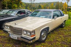 Classic American car Cadillac at car show stock photos