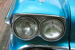 Classic American car headlights Royalty Free Stock Images