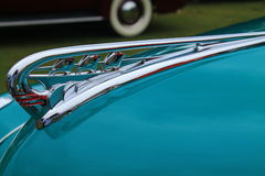 Classic american car hood ornament. 1941 Plymouth Special Deluxe Stock Photography