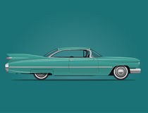 Classic American Car Illustration. Classic American Car Side View Vector Illustration Stock Images