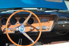 Classic american car interior Royalty Free Stock Image