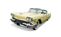 Classic American car. Isolated on a white background Stock Images