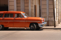 Classic american car in Old Havana Stock Photography