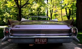 Classic American Car: Pink Cadillac Royalty Free Stock Photography