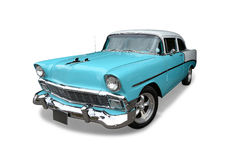 Classic American car. A classic 1950s Chevrolet Bel Air on white background stock photos