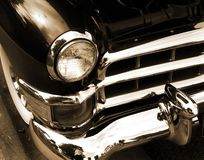 Classic american car in sepia Stock Photos