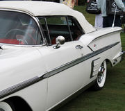 Classic American car side details Royalty Free Stock Photo