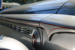 Classic american car side hood detail 4. Side hood details close up. old, rare and classic Packard one-eighty Darrin convertible coupe at cavallino classic car Stock Images