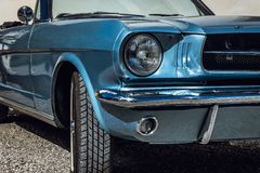 Classic American car from the sixties stock images