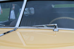 Classic American car split windshield close up view Royalty Free Stock Image