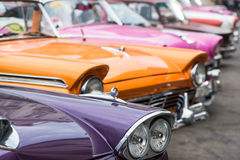 Classic american car on street of Havana in Cuba. Havana, Cuba - September 22, 2015: Classic american car park on street of Old Havana,Cuba. Classic American Stock Image