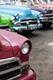 Classic american car on street of Havana in Cuba Royalty Free Stock Images