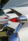 Classic american car tail lamps Stock Photo