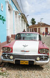 Classic American car in Trinidad.Chevrolet Royalty Free Stock Photo