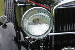 Classic american car vintage headlamp. Stutz M Supercharged Lancefield Coupe 1930 Royalty Free Stock Photography