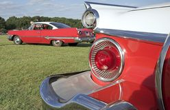 Classic American Cars. Two classic American fiftes cars stock photo