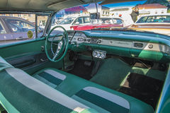 Classic american cars, chevrolet impala, dashboard Royalty Free Stock Photos
