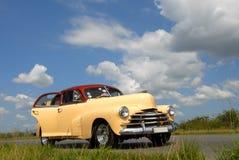 Classic American cars in Cuba. Stock Photos