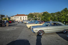 Classic American cars in a row Stock Image