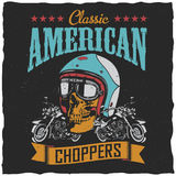 Classic American Choppers Poster Stock Images