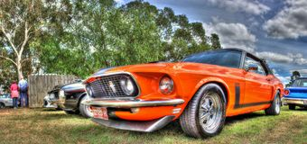 Classic American Ford Mustang Royalty Free Stock Photography