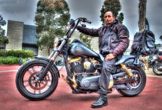 Classic American Harley Davidson Royalty Free Stock Photography